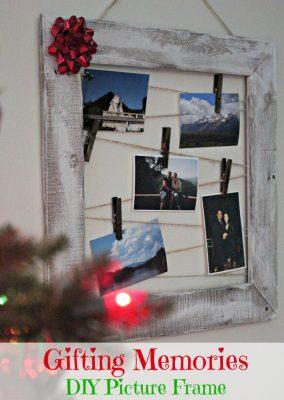 DIY Pallet Picture Frame Gift