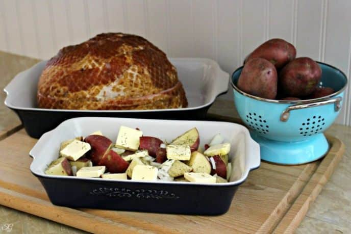 Hormel Cure 81 Cherrywood Ham and Roasted Red Potatoes