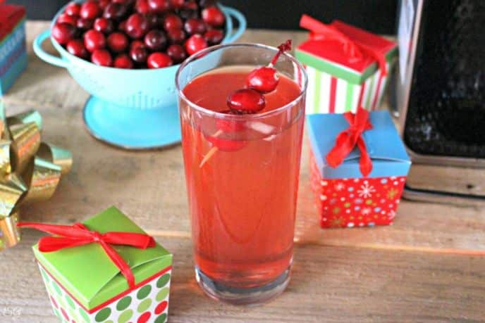 A Whiskey Holiday Drink