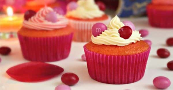 Valentine's Day M&M's® Strawberry Cupcakes