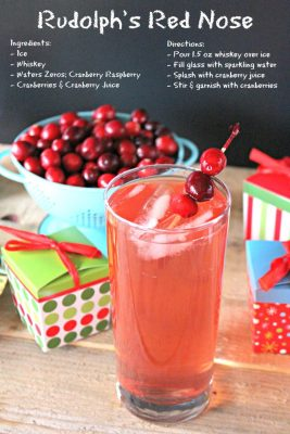 Rudolph's Red Nose: Whiskey Holiday Drink