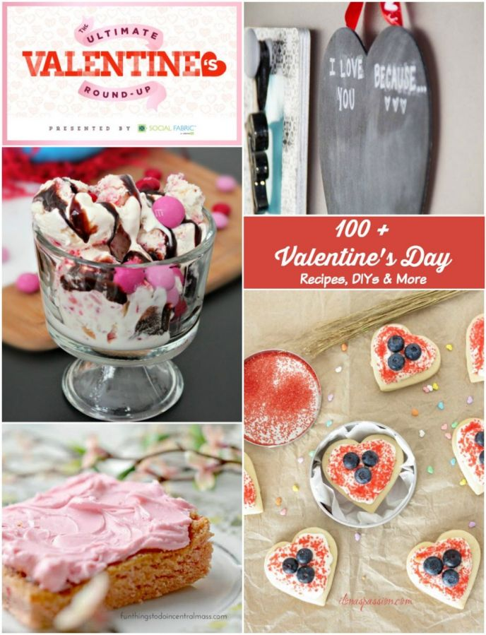Valentine's Day Recipes and Crafts Roundup