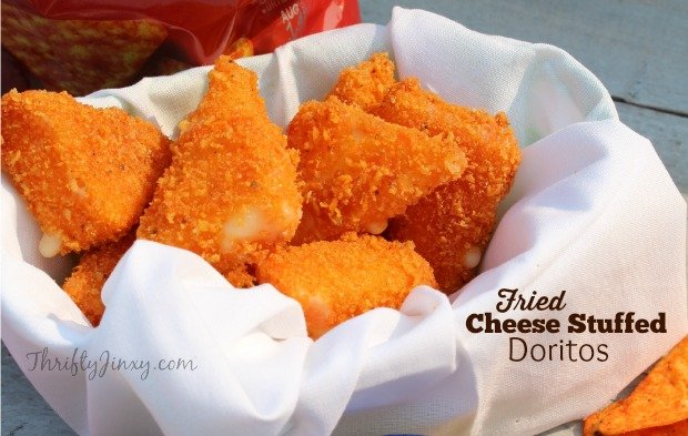 Game Day Cheese Stuffed Fried Doritos Appetizer