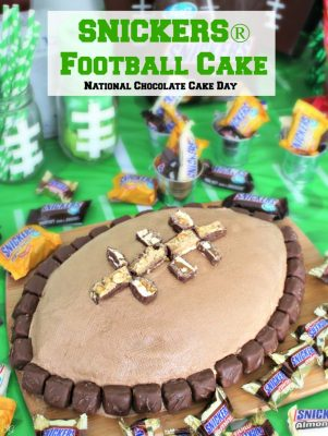 SNICKERS Football National Chocolate Cake Day