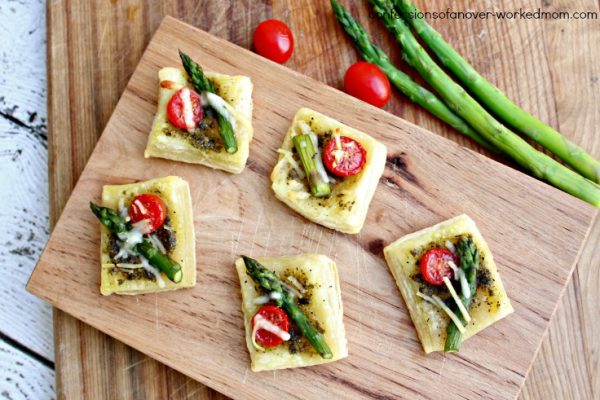 Football Party Appetizer, Asparagus Tomato Parmasan