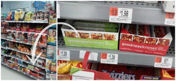 Walmart Checkout Aisle, goodnessknows snack squares
