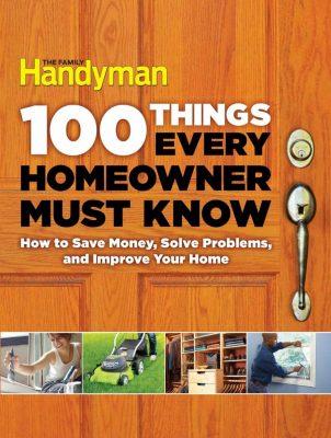 The Family Handyman Homeowner DIY Book