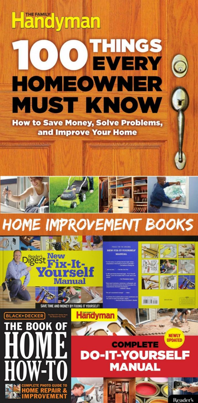 Best DIY Home Improvement Books