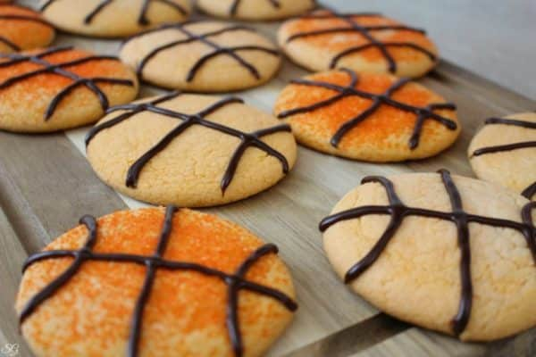 Basketball Cookies for Ice Cream Whoopie Pies