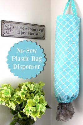 No Sew DIY Plastic Bag Dispenser