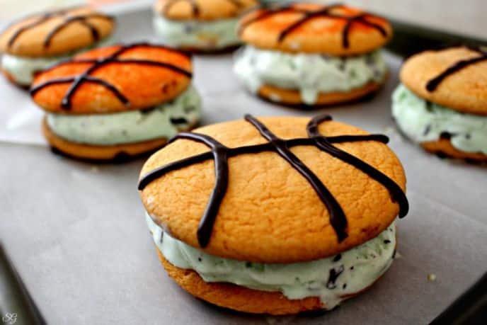 Basketball Ice Cream Cookie Recipe