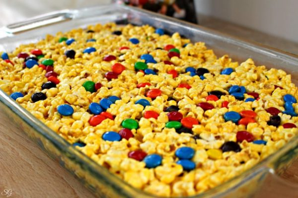 M&M's Marshmallow Popcorn Snack Recipe