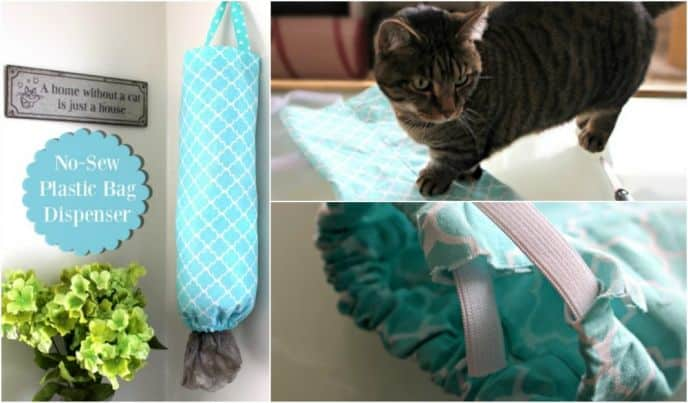 DIY No Sew Plastic Bag Dispenser