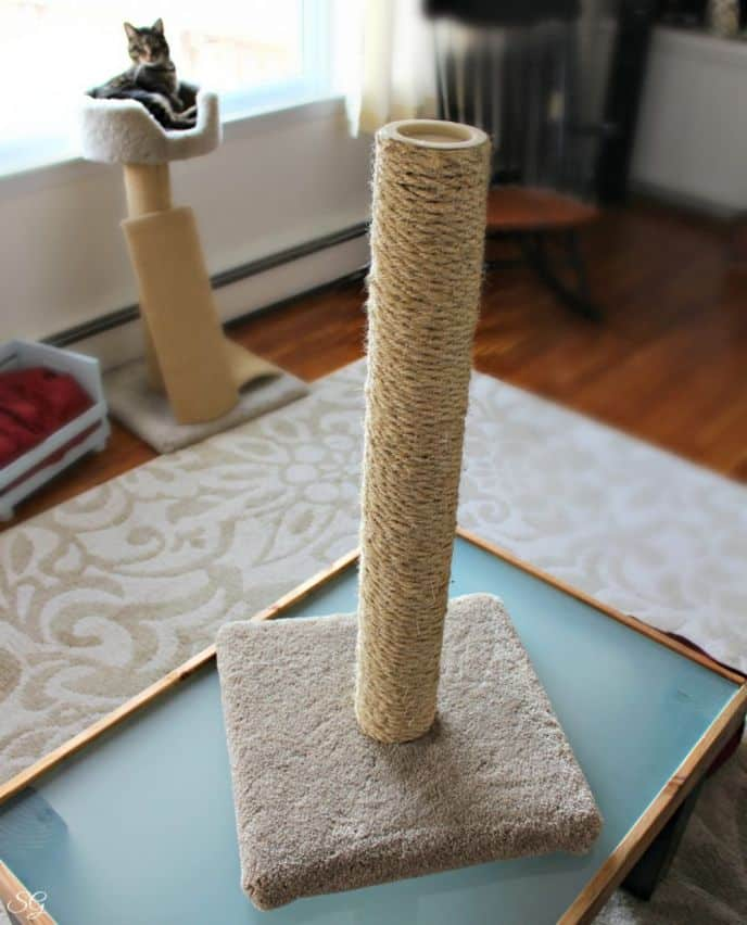 Replacing Sisal on Scratching Post