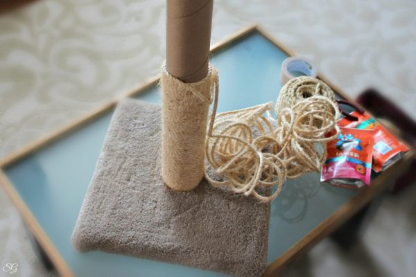 Removing Sisal Rope on Cat Scratch Post