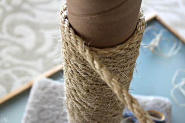 Replacing Sisal Rope on Cat Scratch Post
