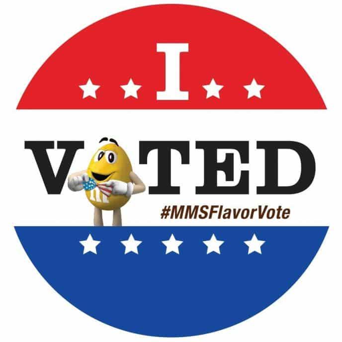 M&M's® I Voted Flavor Vote Sticker