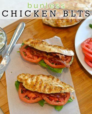 No Bun Chicken BLT Sandwich