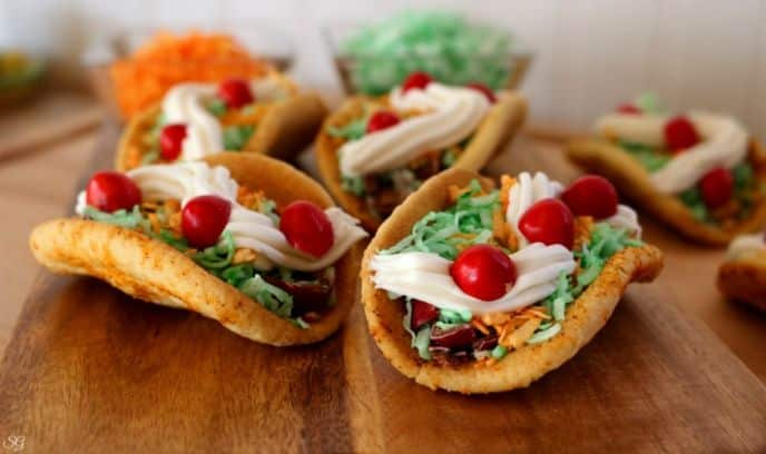 Spicy Cinco de Mayo Dessert Cookie Tacos