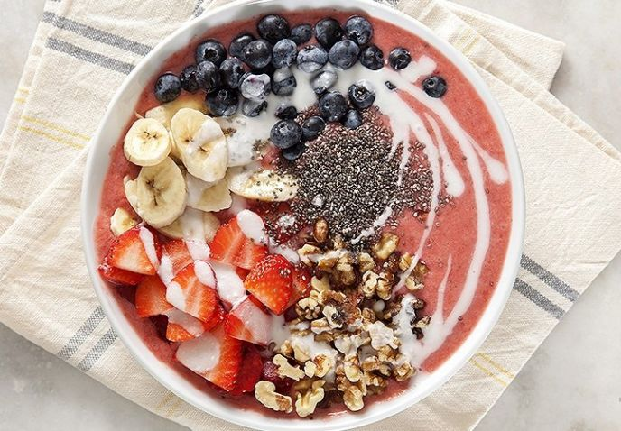 Lemon Strawberry Smoothie Bowl Recipe