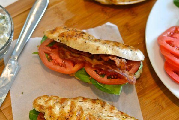Chicken BLT Sandwich with No Bun
