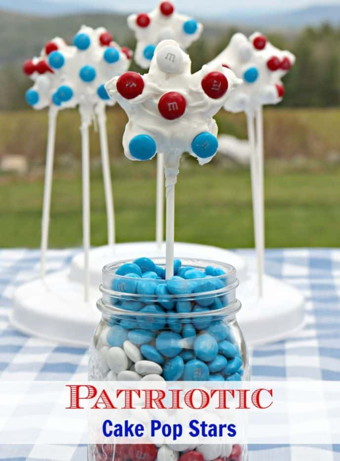 Patriotic Star Shaped Cake Pops