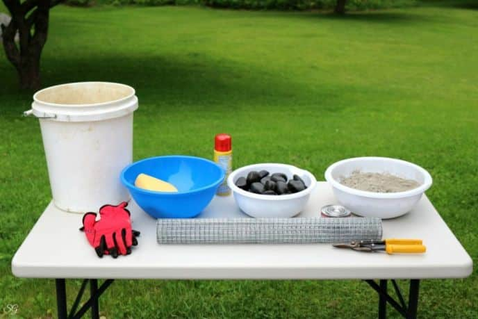 DIY Concrete Fire Bowl Materials