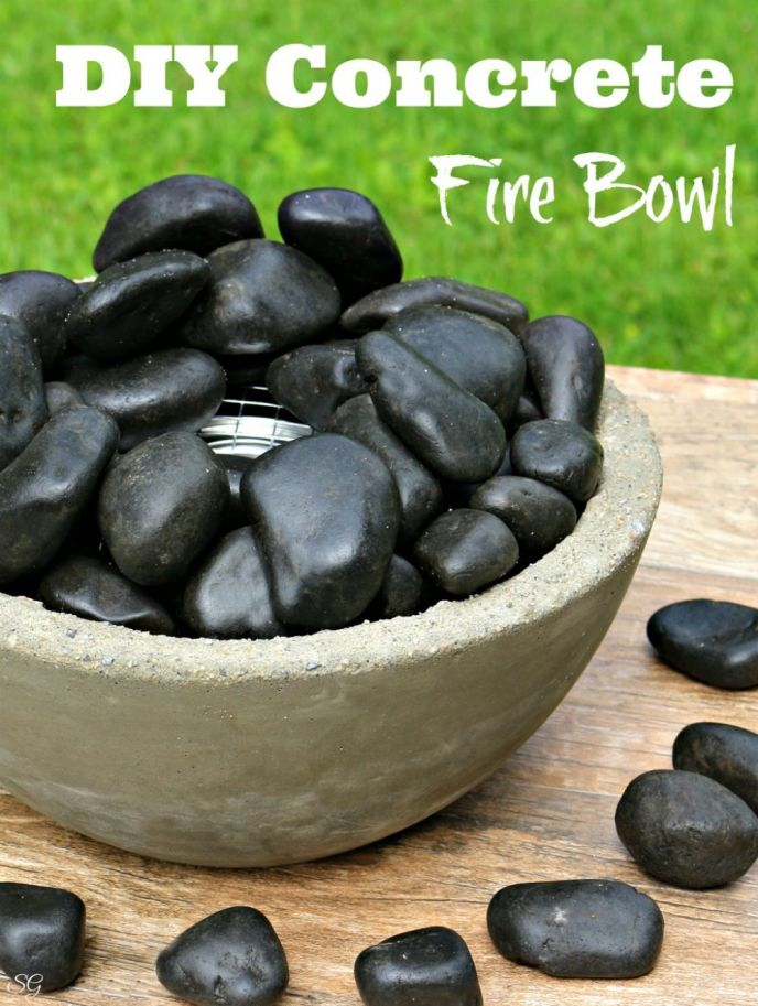 Diy concrete fire bowlg diy concrete fire bowl this tabletop fire bowl is perfect to add a touch of solutioingenieria Image collections