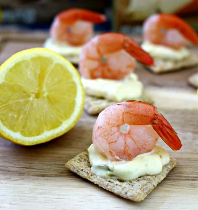 Shrimp and TRISCUIT Cracker Appetizer