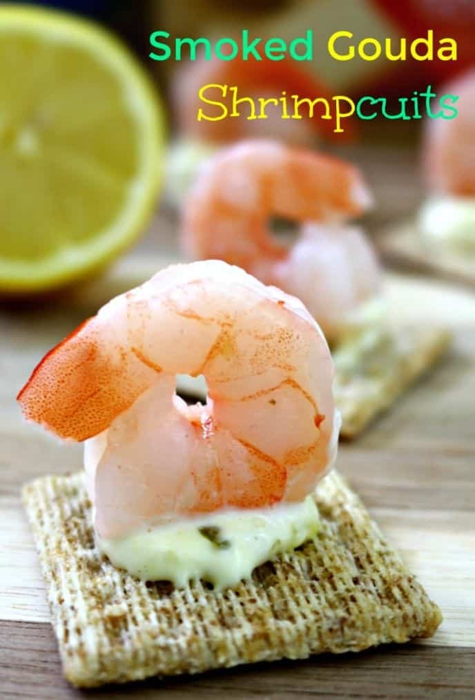 TRISCUIT Smoked Gouda Shrimp Appetizer