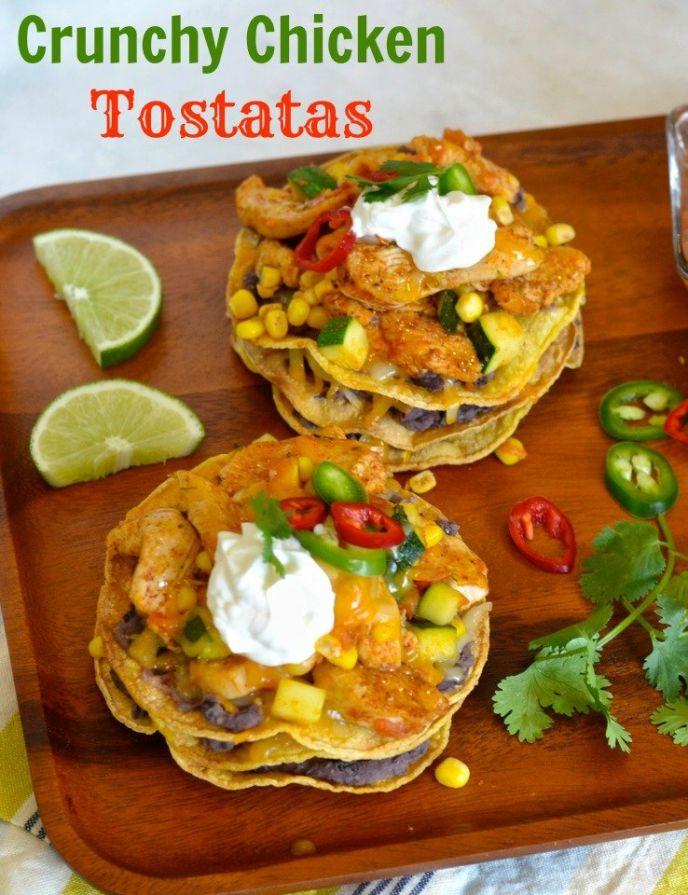Crunchy Chicken Tostatas Recipe