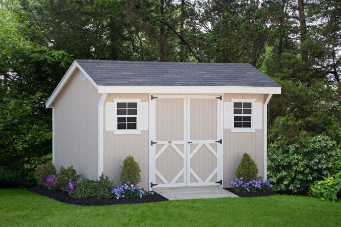 Tips for building your own storage shed for Side of the house storage shed