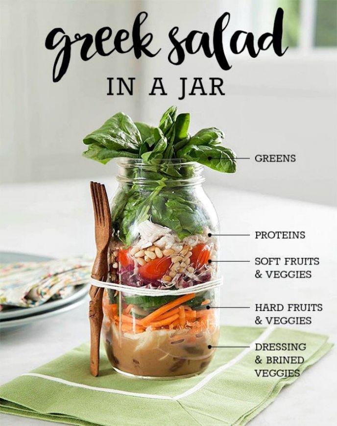 Mason Jar Greek Salad Recipe