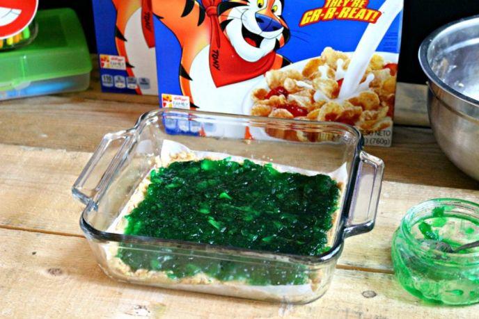 Making Green Apple Jam Crumb Cookie Bars