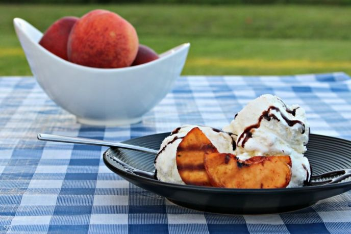 Sweet and Spicy Grilled Peaches