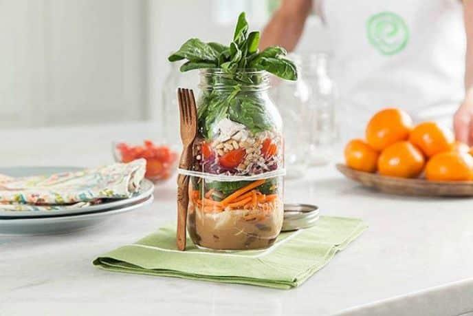 Greek Salad Mason Jar Lunch Recipe