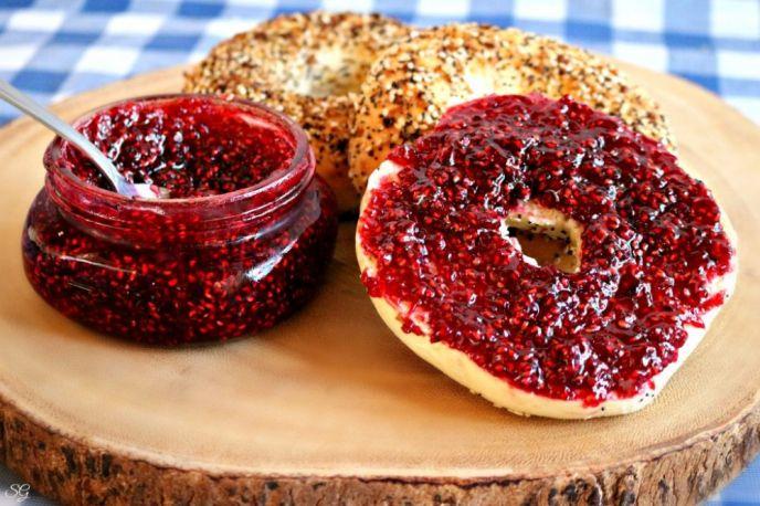 Easy 2 Ingredient Raspberry Jam Recip