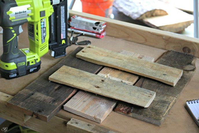 Nailing Pallet Wood Together with Brad Nails