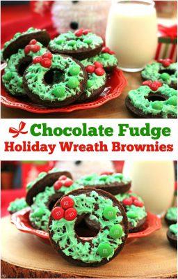 chocolate-fudge-holiday-wreath-brownies