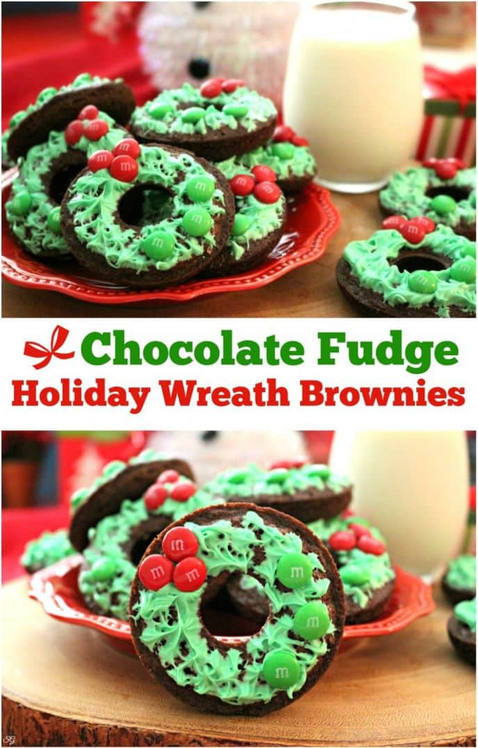 Chocolate fudge holiday wreath brownies are a tasty holiday treat! Spend time with family baking these wreath brownies. Check out this easy wreath brownie recipe!
