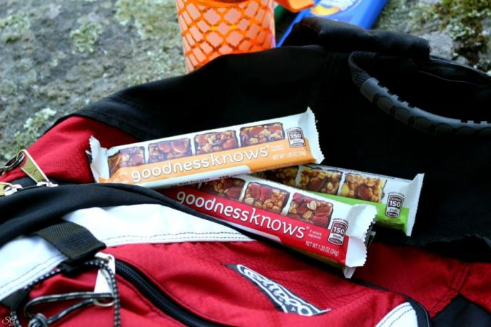 Packing goodnessknows® snack squares For Our Hiking Trip