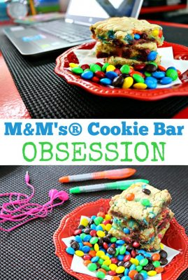 M&M's Cake Box Cookie Bar Recipe