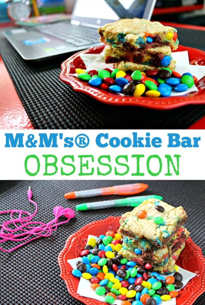 Another fun recipe from the #SweetSquad! This M&M's® cookie bars recipe will be your new obsession. Easy, delicious and of course includes M&M's® candies!