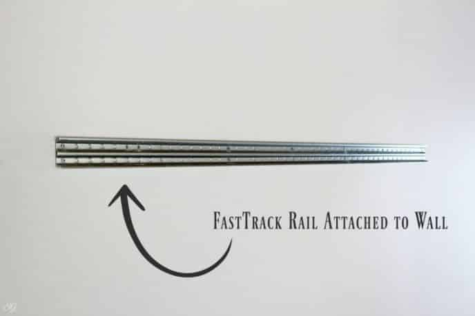 Attaching FastTrack Rails to the Wall