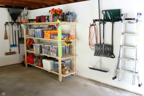 Rubbermaid FastTrack Storage System in My Garage
