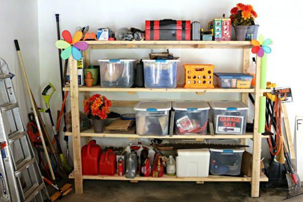 DIY 2x4 Shelf Storage