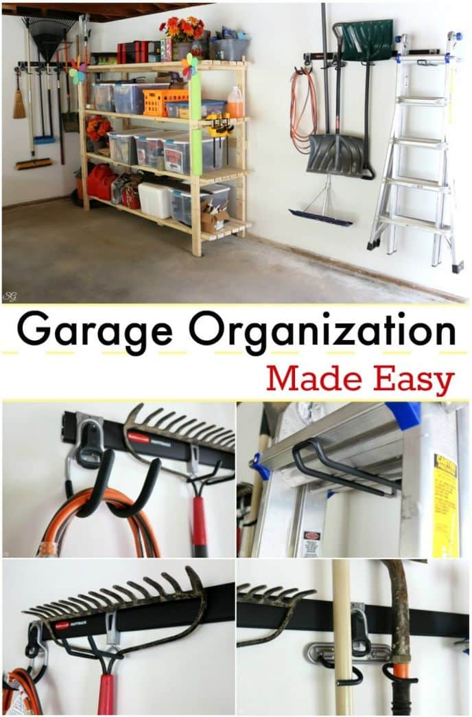 So this summer was the summer of the garage and the Rubbermaid® FastTrack® Garage Organization System has been a tremendous help! Our garage space had become unorganized and we needed a couple of quick solutions to help us get on track. Find out how we use the FastTrack to keep our garage clean and organized! #GarageCleanUp