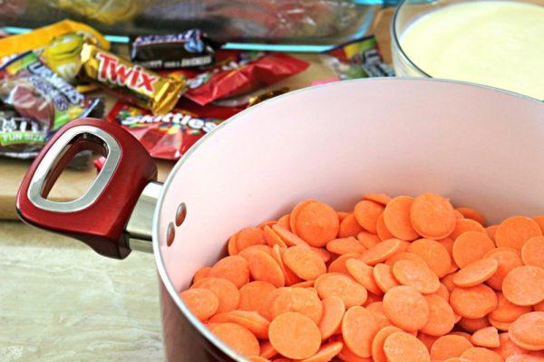 Orange Halloween Fudge