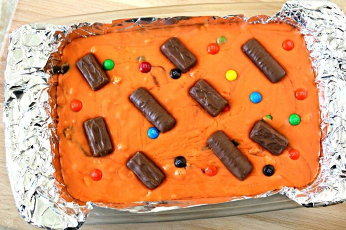 Orange Halloween Candy Fudge Recipe
