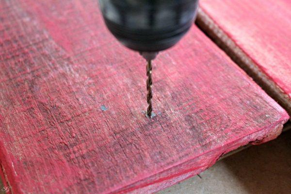 Drilling Pilot Holes for Coat Hooks